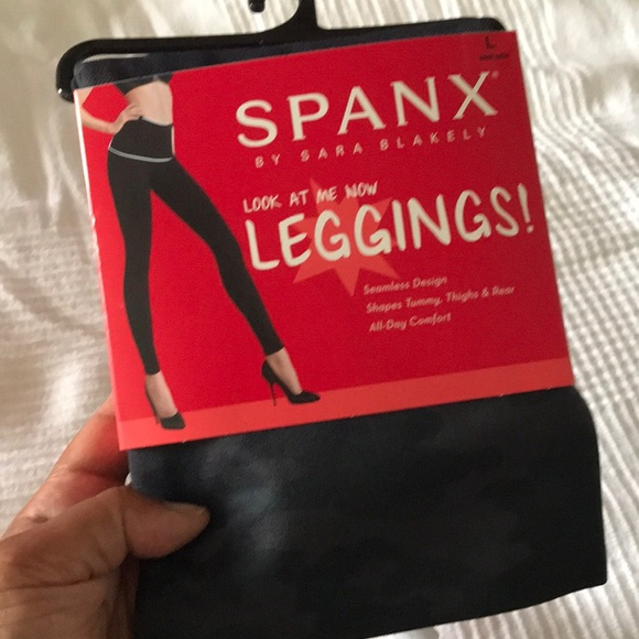 Nwt Spanx Look At Me Now Black Camouflage Slimming Shape Leggings Pants S M Or L Women's Clothing Clothing, Shoes & Accessories